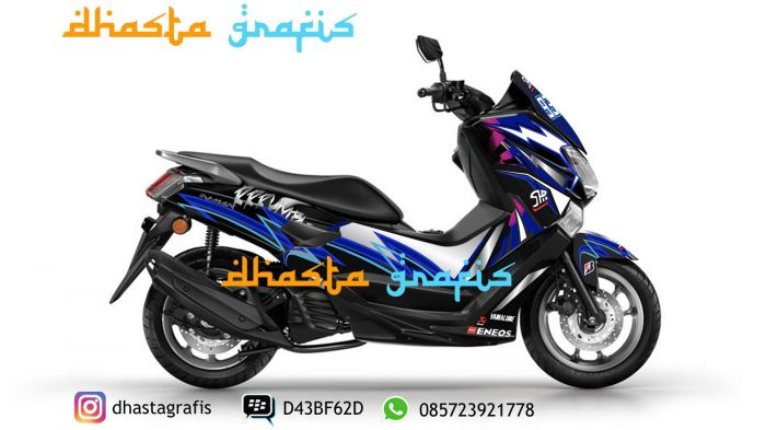 Cutting-sticker-yamaha-nmax-hitam-motif-helm-shoei-full-body-print