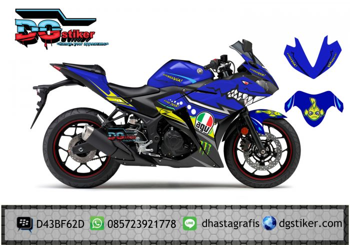 Sticker-Yamaha-R25-AGV-vista-Shark-biru