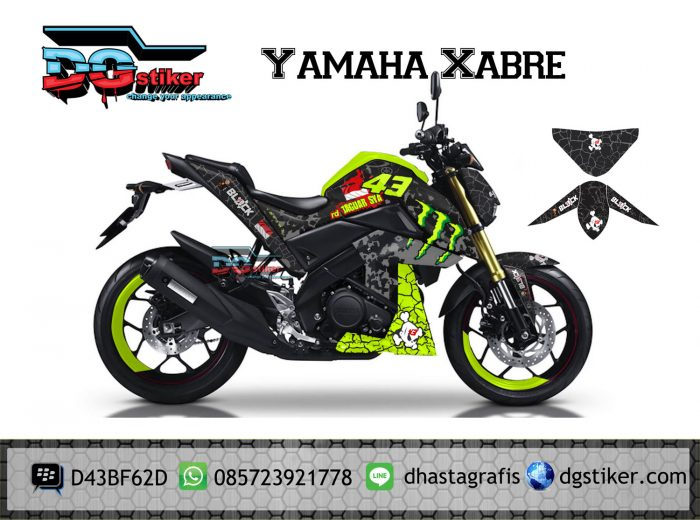 Decal-Stiker-yamaha-xabre-Monster-Energy-Full-Body-Printing