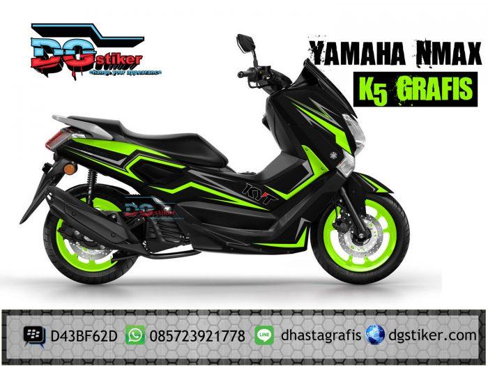 Decal-yamaha-nmax-hitam-green-lime-k5-Grafis