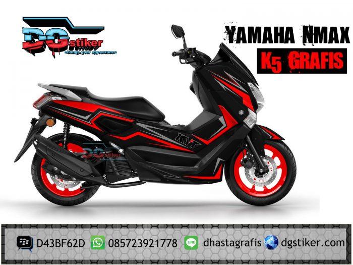 Decal-yamaha-nmax-hitam-merah-k5-Grafis