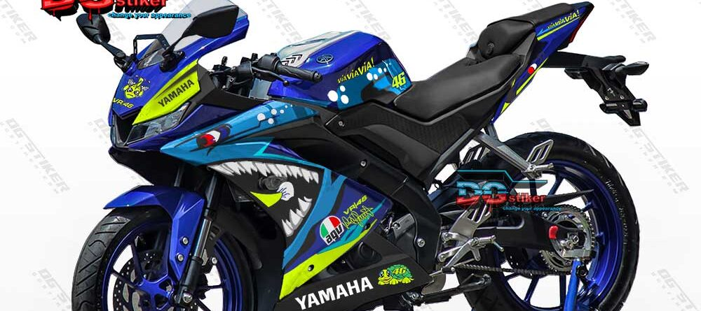 Decal R15 V3 Biru Shark DG Stiker