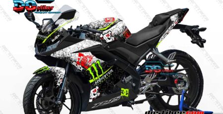 Decal Sticker R15 V3 Putih DC Monster Kenblock