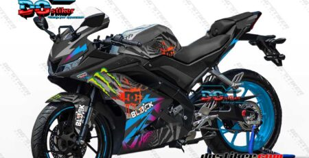 Decal Striping R15 V3 Hitam Kenblock