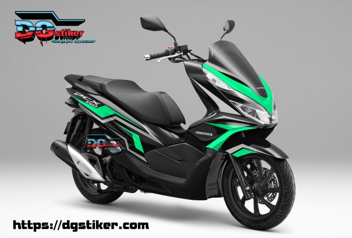 Decal-Sticker-Honda-Pcx-New-2018-Lokal-Warna-Hitam-biru-tosca-tajam