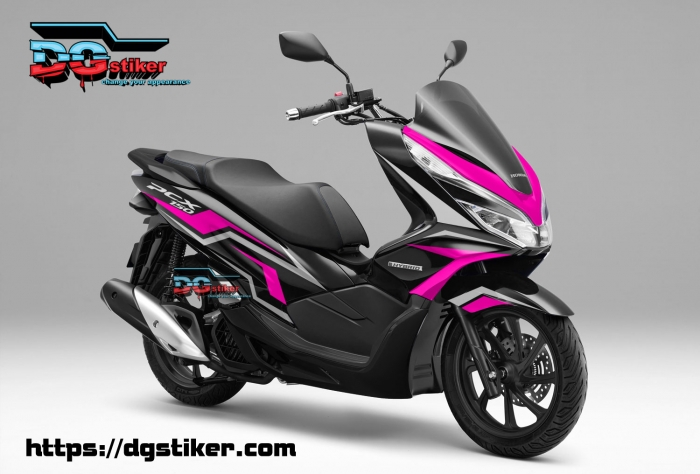Decal-Sticker-Honda-Pcx-New-2018-Lokal-Warna-Hitam-pink-tajam