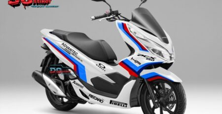 Decal-Sticker-Honda-Pcx-New-2018-Lokal-Warna-Putih-Livery-BMW-Safety-Car