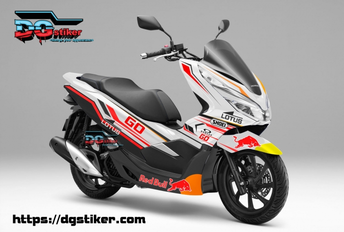 Decal-Sticker-Honda-Pcx-New-2018-Lokal-Warna-Putih-Lotus-Marq-Marquez