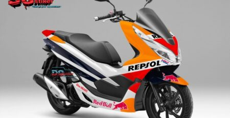 Striping-Full-body-Honda-Pcx-New-2018-Lokal-Livery-Repsol-Motogp