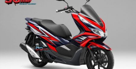 Striping-full-body-honda-pcx-lokal-2018-warna-merah