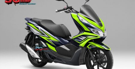 Striping-full-body-honda-pcx-new-2018-Biru-hijau