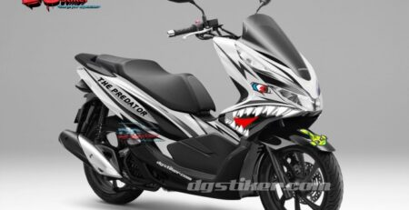 Decal-Sticker-Honda-Pcx-New-2018-Lokal-Warna-putih-Hiu-shark-DG-Stiker