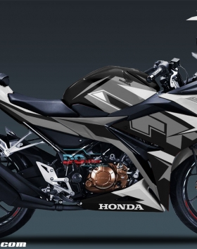 Modifikasi-Decal-Sticker-full-Body-Honda-CBR150R-TT-Isle-Of-Man-Hitam-Silver