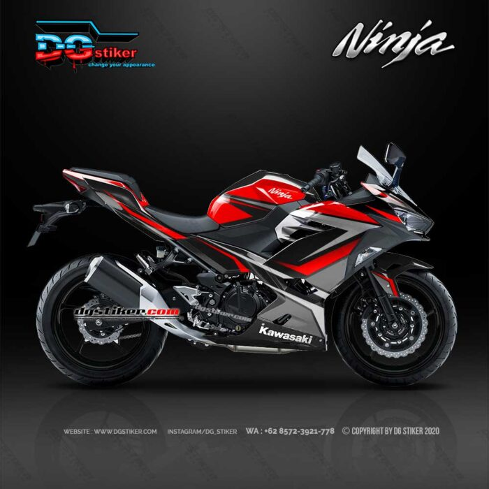Modifikasi Decal New Ninja 250 Fi 2018 Hitam Line Dg Stiker