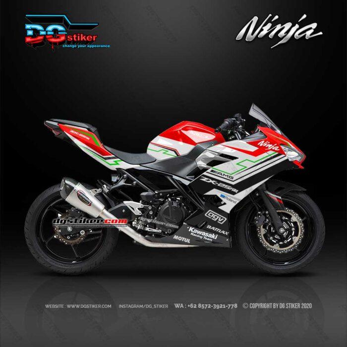 Modif Grafis New Ninja 250 Fi 2018 Red Black Hitech DG Stiker