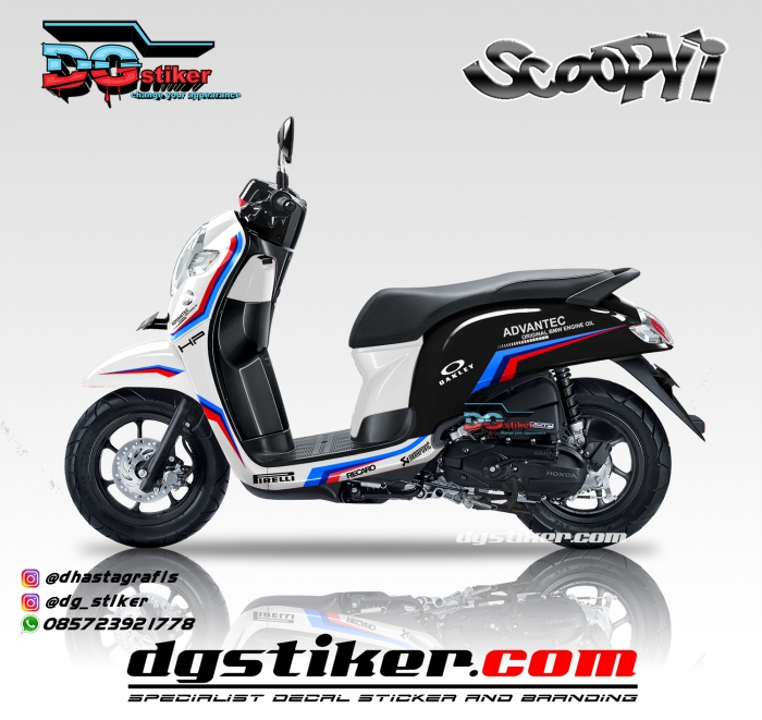 Modifikasi-Decal-Sticker-Scoopy-Fi-Putih-Livery-BMW-Safety-Car-DG-Stiker