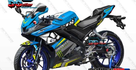 Modifikasi Decal Sticker Yamaha R15 V3 Shark Biru DG Stiker