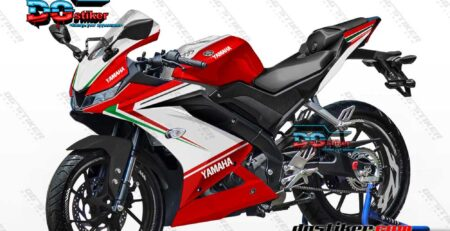 Decal Striping R15 V3 Merah Ducati three Color DG Stiker
