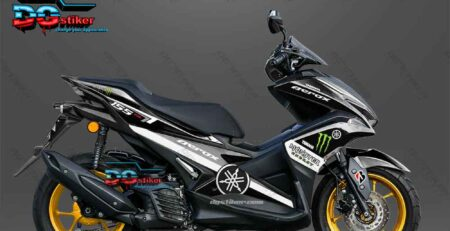 Decal sticker Aerox 155 Monster Energy Hitam DG Stiker