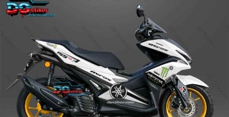 Decal sticker Aerox 155 Monster Energy Putih DG Stiker