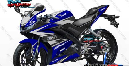 Modifikasi Striping Full Body R15 V3 GIVI Biru DG Stiker