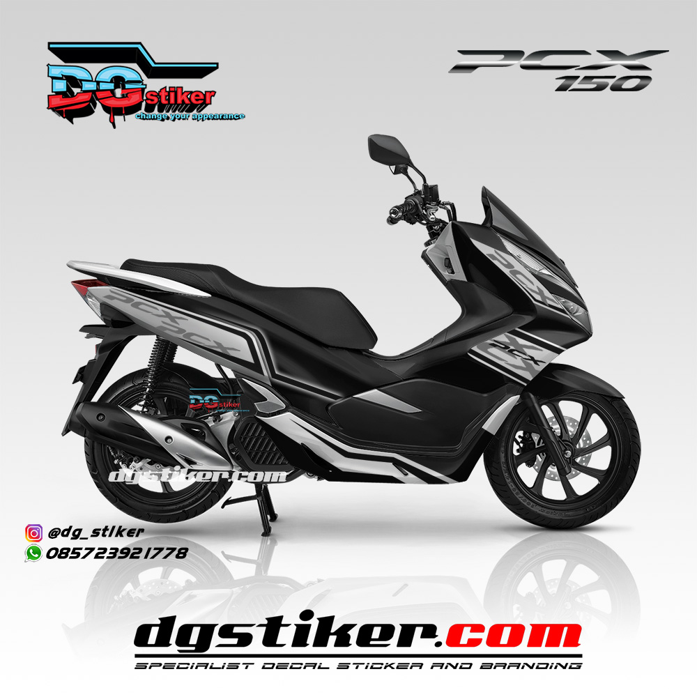 Sticker Full Body Pcx 150 2018 Hitam KTM Livery DG Stiker