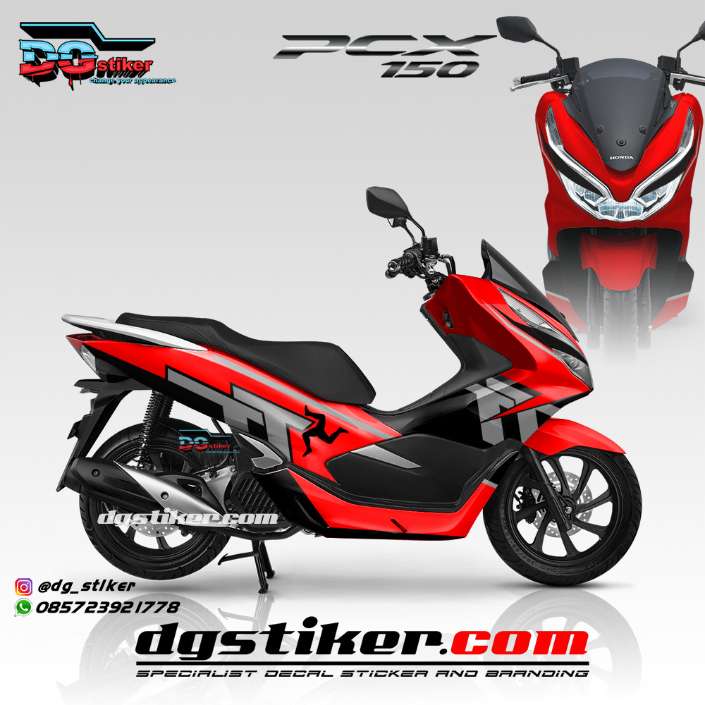 Striping Full Body PCX 150 Lokal Merah TT Isle Of Man