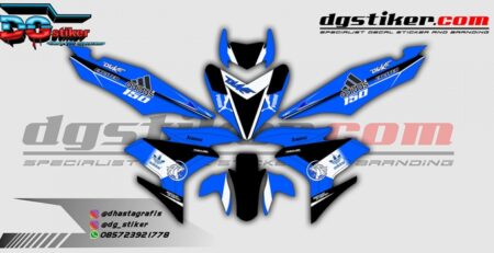 Decal Sticker Yamaha Mx King Blue Adidas Duke DG Stiker