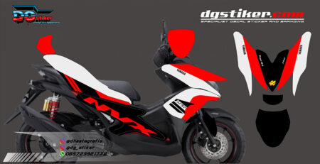 Decal Striping Full Body Aerox 155 Merah DG Stiker