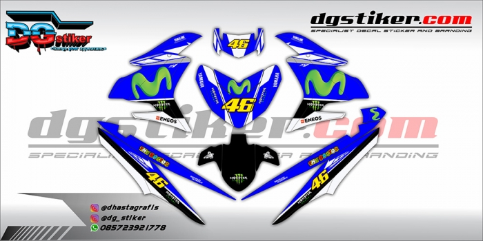 Decal Striping Jupiter Mx King Biru Movistar DG Stiker