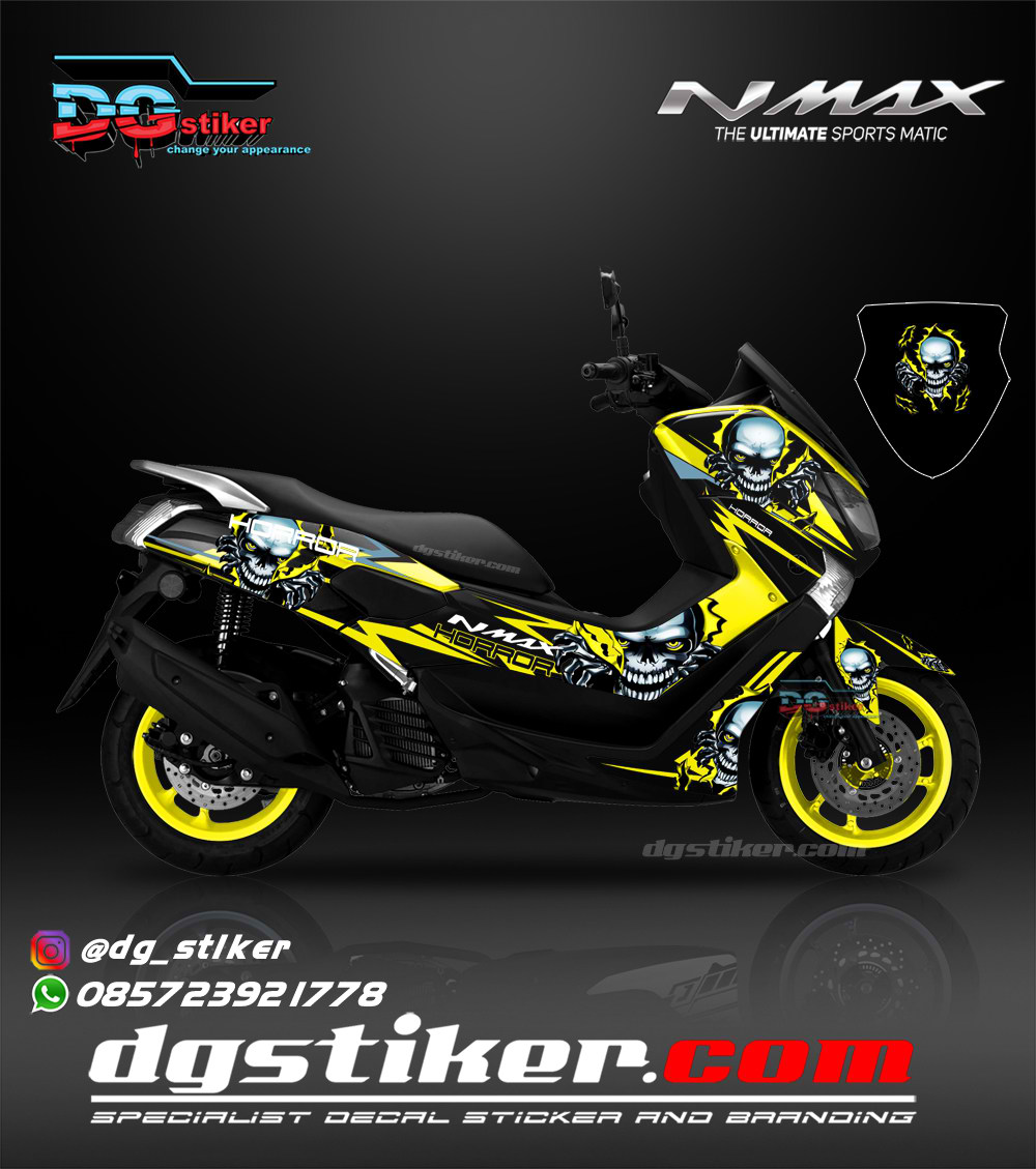 Decal Full Body Nmax Hitam Horor DG Stiker