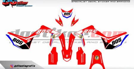 Decal Kit CRF 150L Merah Putih Simpel DG Stiker
