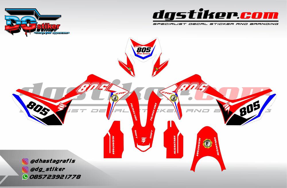 Decal Kit CRF 150L Merah Putih Simpel DG Stiker