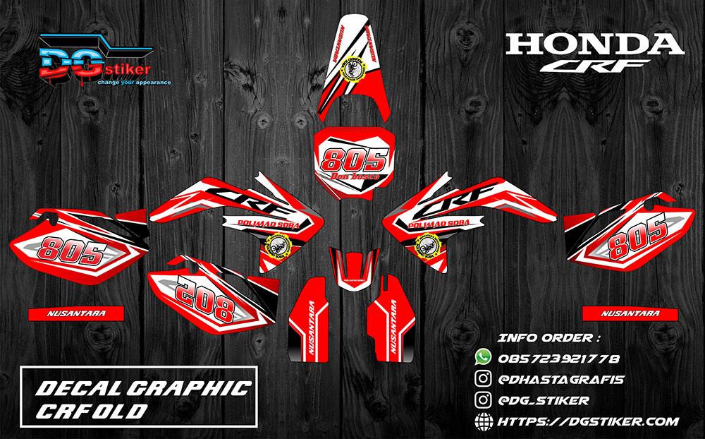 Decal Kit Full Body CRF 150 Old Merah DG Stiker