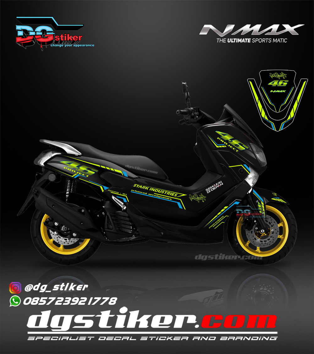 Decal Sticker Full Body Nmax Hitam VR 46 Project DG Stiker
