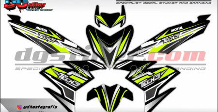 Decal Striping Jupiter Mx King Hitam DG Stiker