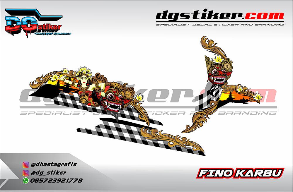Decal Striping Yamaha Fino Karbu Barong DG Stiker