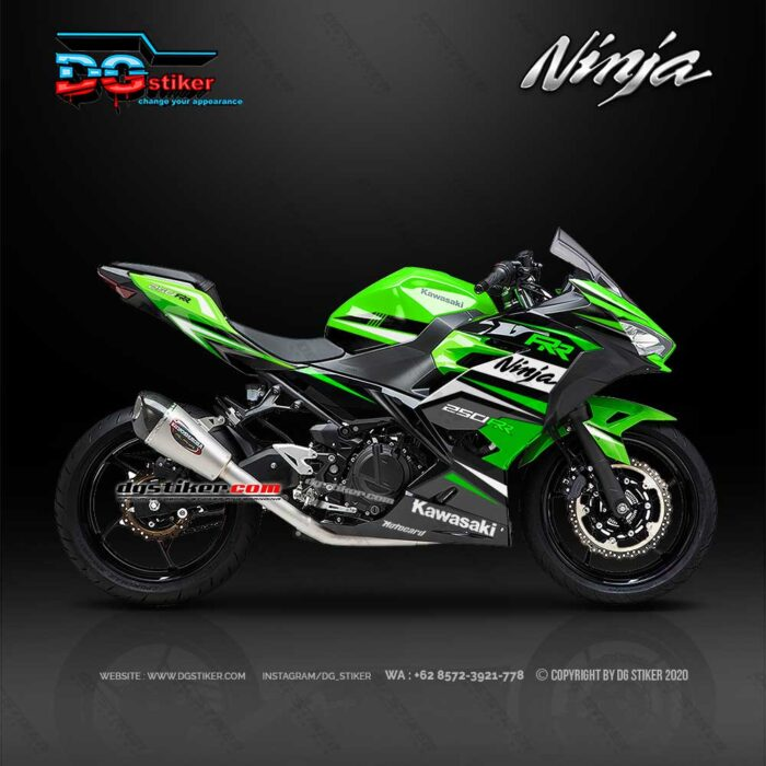 Modif Decal Ninja 250R FI 2018 Green Sport DG Stiker