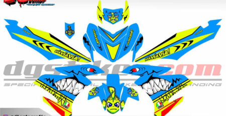 Striping Full Body Mx King Shark DG Stiker