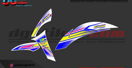 Striping Yamaha Fino 125 Fi Racing White DG Stiker