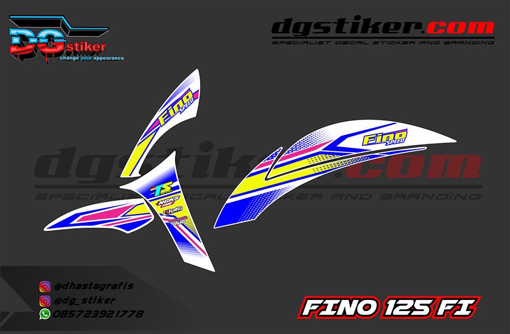 Striping Yamaha Fino 125 Fi Racing White DG Stiker
