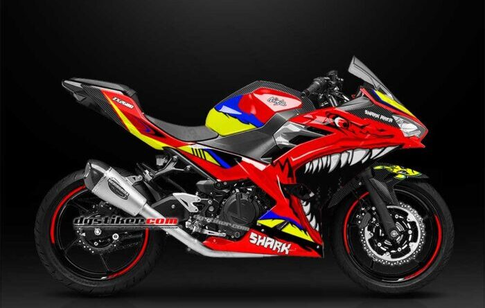 Decal Sticker All New Ninja 250R FI 2018 Merah Shark DG Stiker