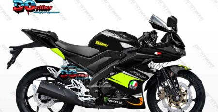 Decal Sticker Full Body R15 V3 Hitam Shark Hiu DG Stiker