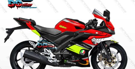 Decal Sticker Full Body R15 V3 Merah Shark Hiu DG Stiker