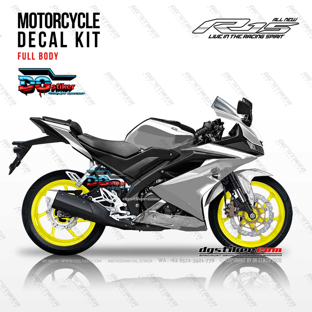 Decal Sticker Full Body R15 V3 Modif Chrome Metalik DG Stiker