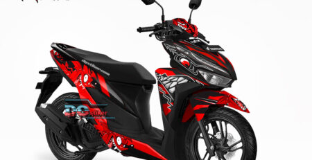 Modifikasi Decal Striping Vario New 2018 Shark Red Devil DG Stiker