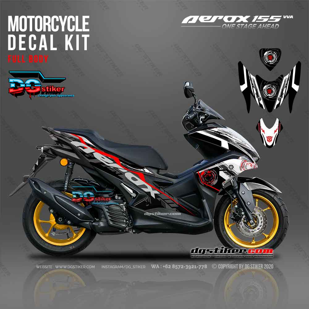 Decal Sticker Full Body Aerox 155 Hitam Transformer DG Stiker