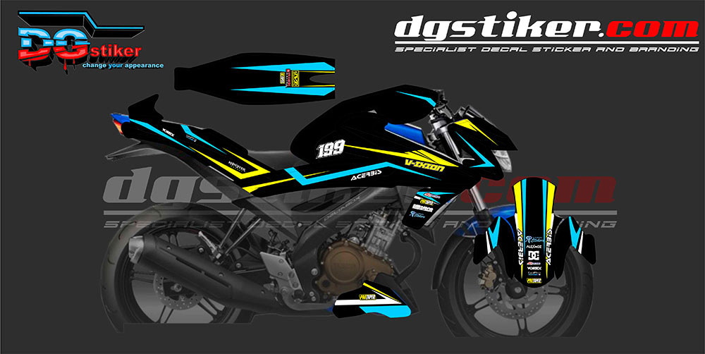 Decal Sticker Full Body All New Vixion R 150 DG Stiker