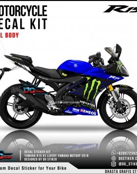 Decal Sticker Kit Full Body R15 Old Livery Yamaha MotoGP 2019 DG Stiker