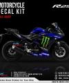 Decal Sticker Kit Full Body Yamaha R25 Full Body Hitam Biru Livery Yamaha MotoGP 2019 DG Stiker